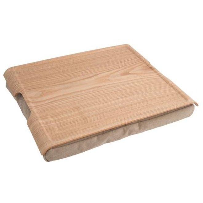 Laptray/schoottafel zand/houtbruin