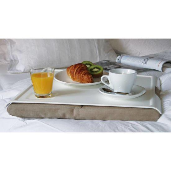 Bosign Laptray/schoottafel zandbruin/wit hout