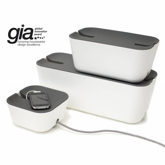 Cable organiser hideaway XL white/grey