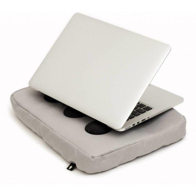 Laptopkussen zilver/zwart polyester