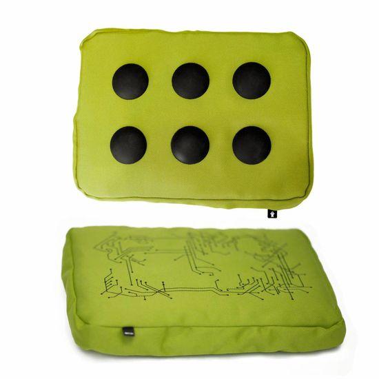 laptopkussen limoen groen/zwart polyester