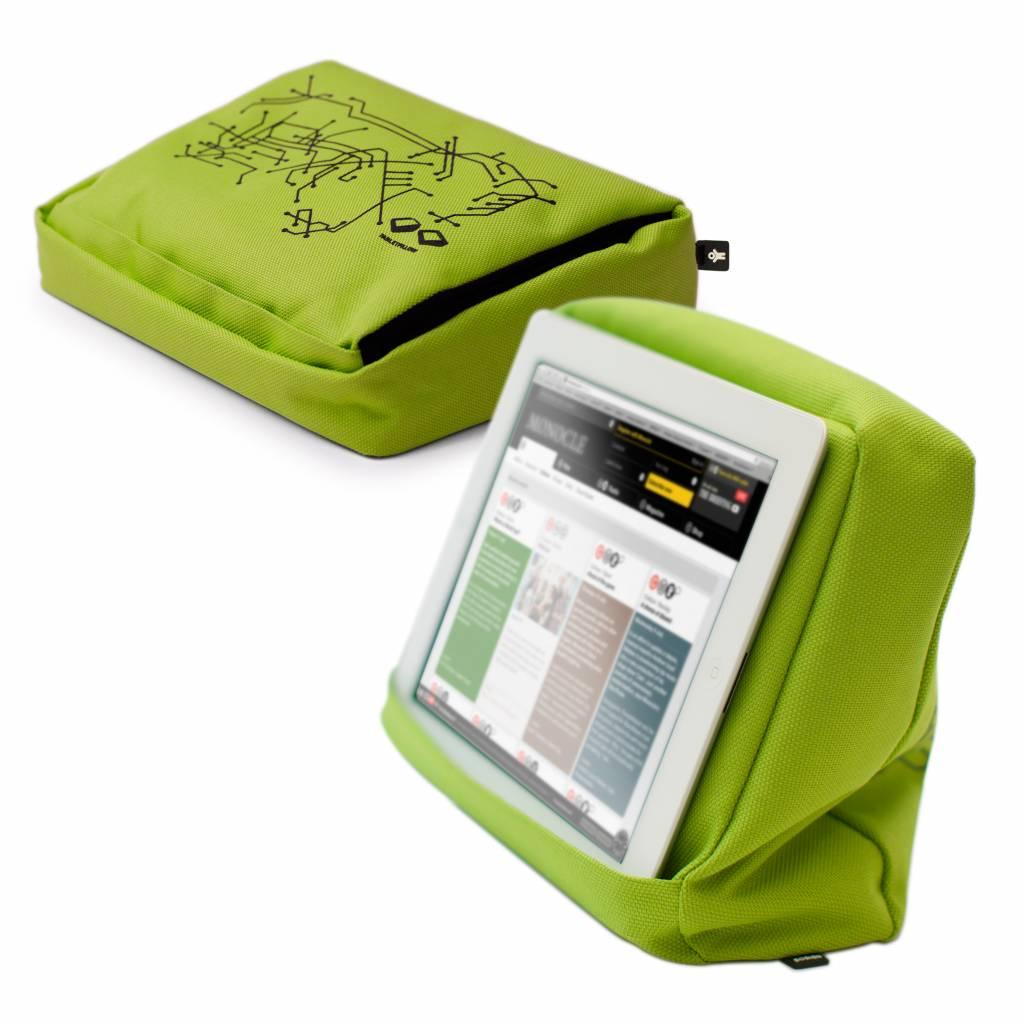 Tablet kussen limoen groen