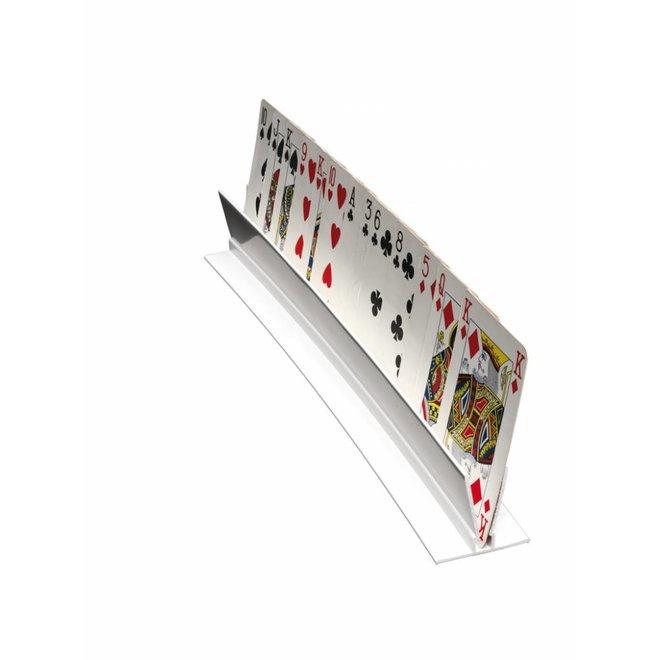 Speelkaartenhouder kunststof wit 30 cm
