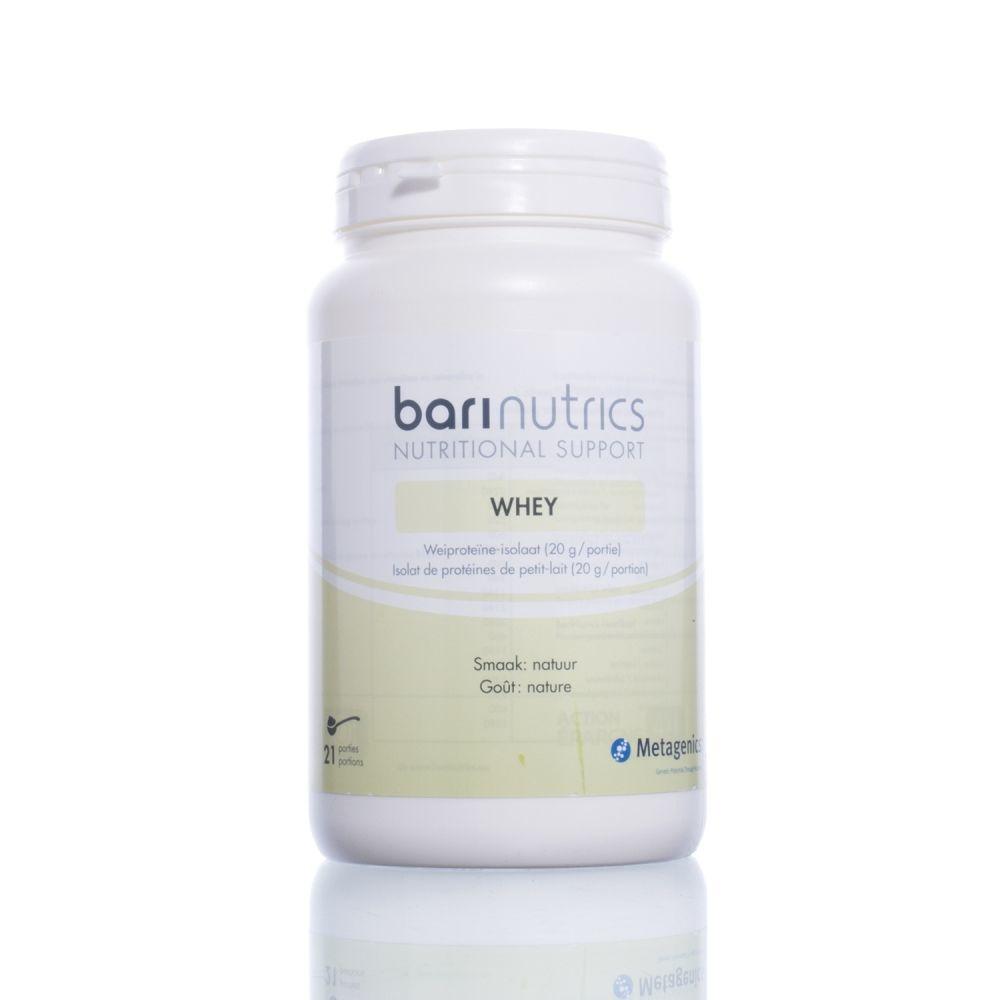 POT Barinutrics Whey - Wei-Eiwitisolaat natuur 477g 21 porties
