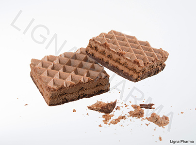 Wafelkoekje chocolade 6st