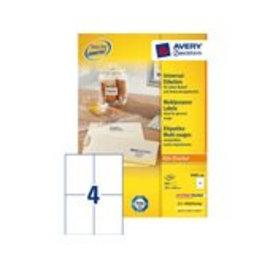 Zweckform Etiquette Avery Zweckform 3483 105x148mm A6 blanc 800 pièces