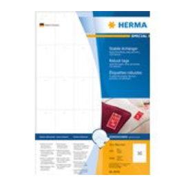 Herma Herma 8046 stevige labelhangers a4 35x59,4 mm wit papier/folie/papier geperforeerd niet hechtend 3000 st.