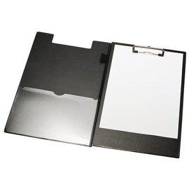 Papierklem Porte-bloc à pince LPC rabat A4/folio + boucle-stylo noir