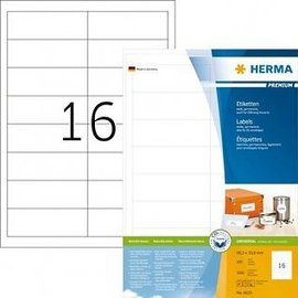 Herma Etiket Herma 4619 96.5x33.8mm premium wit 3200stuks