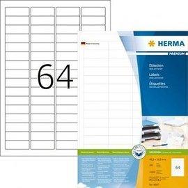 Herma Etiquette Herma Premium 4607 48,3x16,9mm blanc 12800 pièces