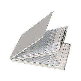 Papierklem Coffre porte-bloc aluminium A4 pochette avec couverture