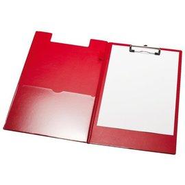 Papierklem Porte-bloc à pince LPC rabat A4/folio + boucle-stylo rouge