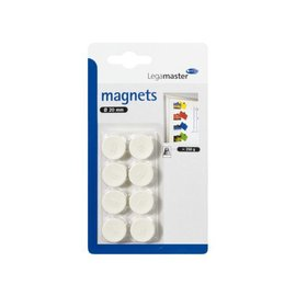 LegaMaster Aimant Legamaster 20mm 250g 8 pièces blanc