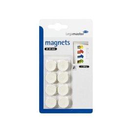 LegaMaster Magneet LegaMaster 20mm 250gr wit 8stuks 7-181119-8