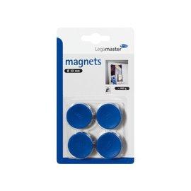LegaMaster Magneet LegaMaster 30mm 850gr blauw 4stuks 7-181203-4