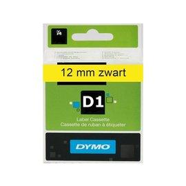 Dymo Labeltape Dymo 45018 d1 720580 12mmx7m zwart op geel