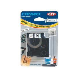 Dymo Labeltape Dymo 16960 d1 718070 19mmx5.5m poly zwart op wit