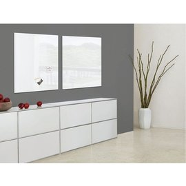 Sigel Tableau en verre Sigel magnétique 1000x1000x18mm blanc