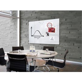 Sigel Tableau en verre Sigel magnétique 1500x1000x18mm blanc