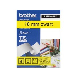 Brother Labeltape Brother p-touch tze641 18mm zwart op geel