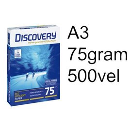 Discovery Papier copieur Discovery A3 75g blanc 500 feuilles