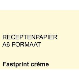 Fastprint Receptpapier Fastprint A6 80gr creme 2000vel