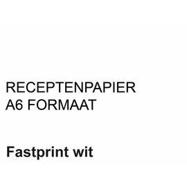 Fastprint Receptpapier Fastprint A6 80gr wit 2000vel