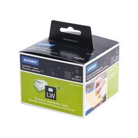 Dymo Etiket Dymo 99013 labelwriter 36x89mm transparant 260stuks