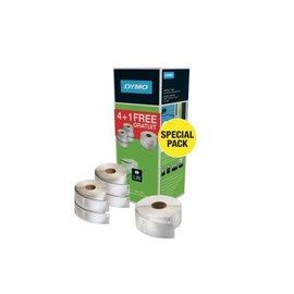 Dymo Label etiket Dymo 99012 bundelpack 4+1 gratis