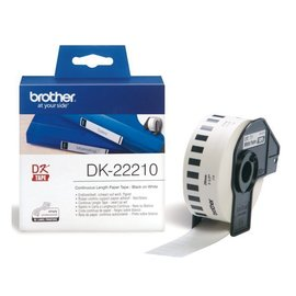 Brother Etiket Brother dk-22210 29mm thermisch 30-meter wit papier
