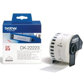 Brother Etiket Brother dk-22223 50mm thermisch 30-meter wit papier