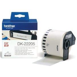 Brother Etiket Brother dk-22205 62mm 30-meter wit papier