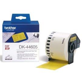 Brother Etiquette Brother DK-44605 62mm papier thermique 30m jaune