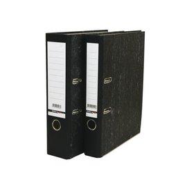 Budget 20 x Ordner Budget A4 80mm karton zwart gewolkt (brede rug)