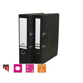 Budget 25 x Ordner Budget A4 50mm karton zwart gewolkt (smalle rug)
