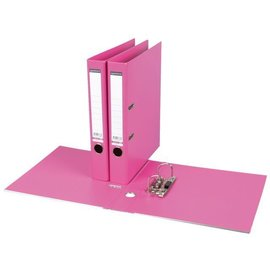 Quantore Classeur à levier Quantore A4 50mm PP rose