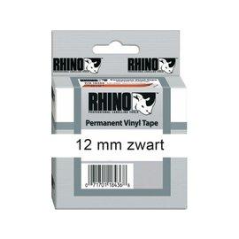 Dymo Ruban Dymo Rhino 18444 vinyl 12mmx5,5m noir sur blanc