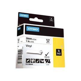 Dymo Ruban Dymo Rhino 18054 vinyl 24mmx5,5m noir sur blanc