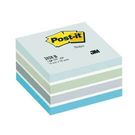 3M Post-it Bloc-mémos Post-it 2028B cube 76x76mm bleu 450 feuillets