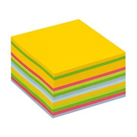 3M Post-it Bloc-mémos Post-it 2028U cube 76x76mm néon 450 feuillets