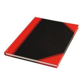 Office Cahier de notes noir/rouge A5 ligné 60g 96 feuilles