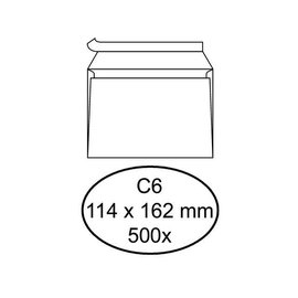 Quantore Enveloppe bancaire Quantore C6 114x162mm AC blanc 500pcs