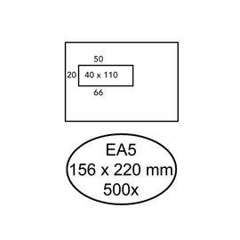 Quantore Envelop Quantore 156x220mm venster 4x11cm links zelfkl 500st