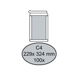 Quantore Enveloppe Quantore dos carton C4 229x324mm AC blanc 100pcs