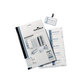 Durable Badgekaart Durable 1453 bedrukbaar 40x75mm 240stuks