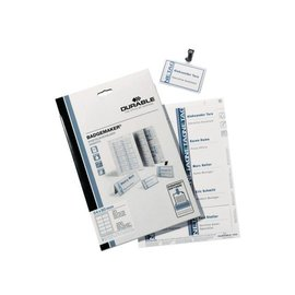Durable Badgekaart Durable 1455 bedrukbaar 54x90mm 200stuks