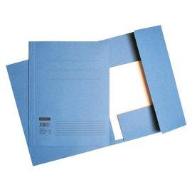 Quantore 10 x Chemise à rabats Quantore in-folio 320g bleu
