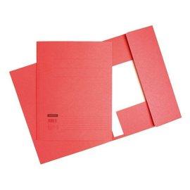 Quantore 10 x Chemise à rabats Quantore in-folio 320g rouge