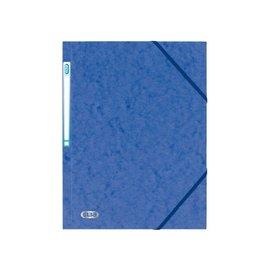 Elba Dossier à élastique Elba A4 avec étiquette dorsale bleu