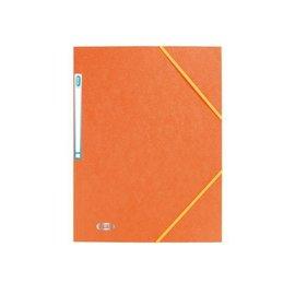Elba Dossier à élastique Elba A4 avec étiquette dorsale orange